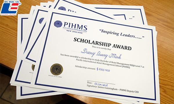 Học bổng trường Quản trị khách sạn quốc tế Thái Bình Dương (PIHMS)