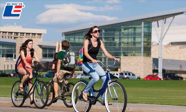 di chuyển bằng xe đạp khi du học New Zealand
